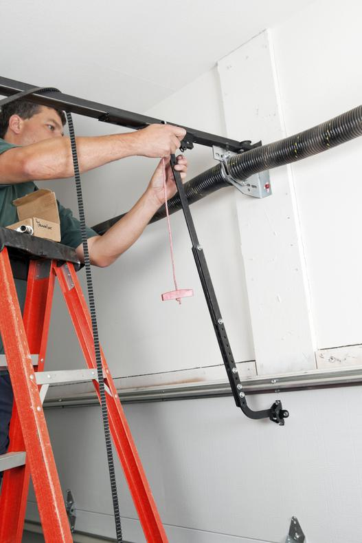 how to fix a squeaky automatic garage door