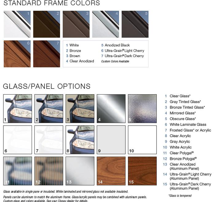 Full View Garage Door Window Styles